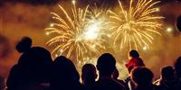 Enjoy a firework display by the coast