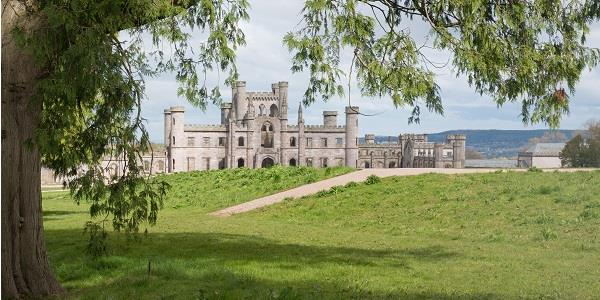 A panoramic view of Lowther Castle