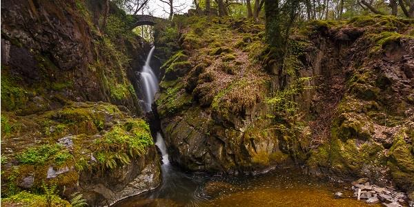 The Aira Force Waterfall in the Lake District