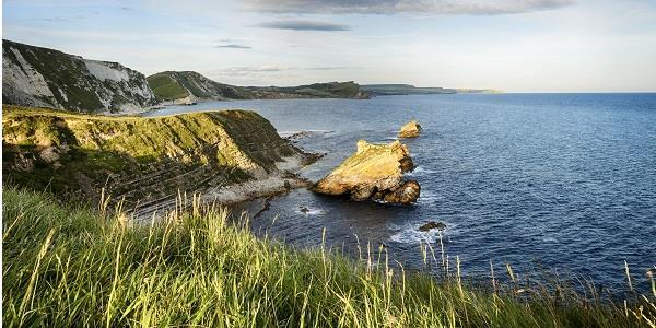 The beautiful cove of Mupe Bay in Dorset