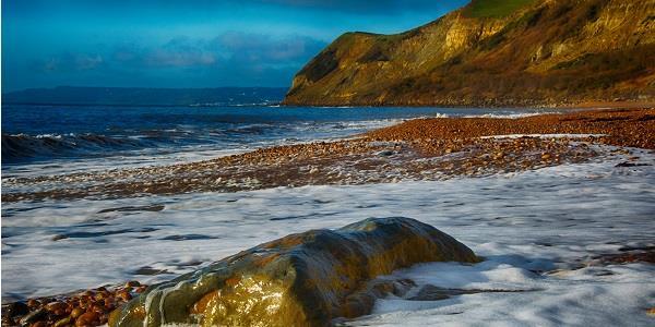 Eypemouth beach in the autumn