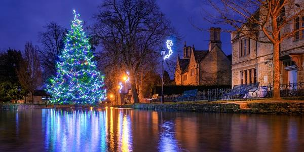 Bourton on the Water's beautiful Christmas light display