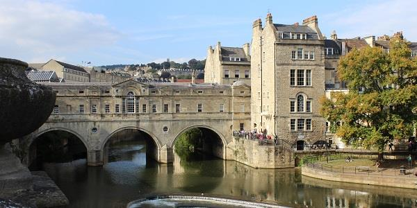 Pulteney Bridge is a famous landmark in Bath